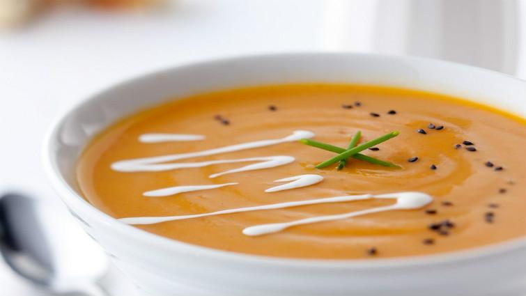 Sütőtökkrém leves pirított tökmaggal - recept